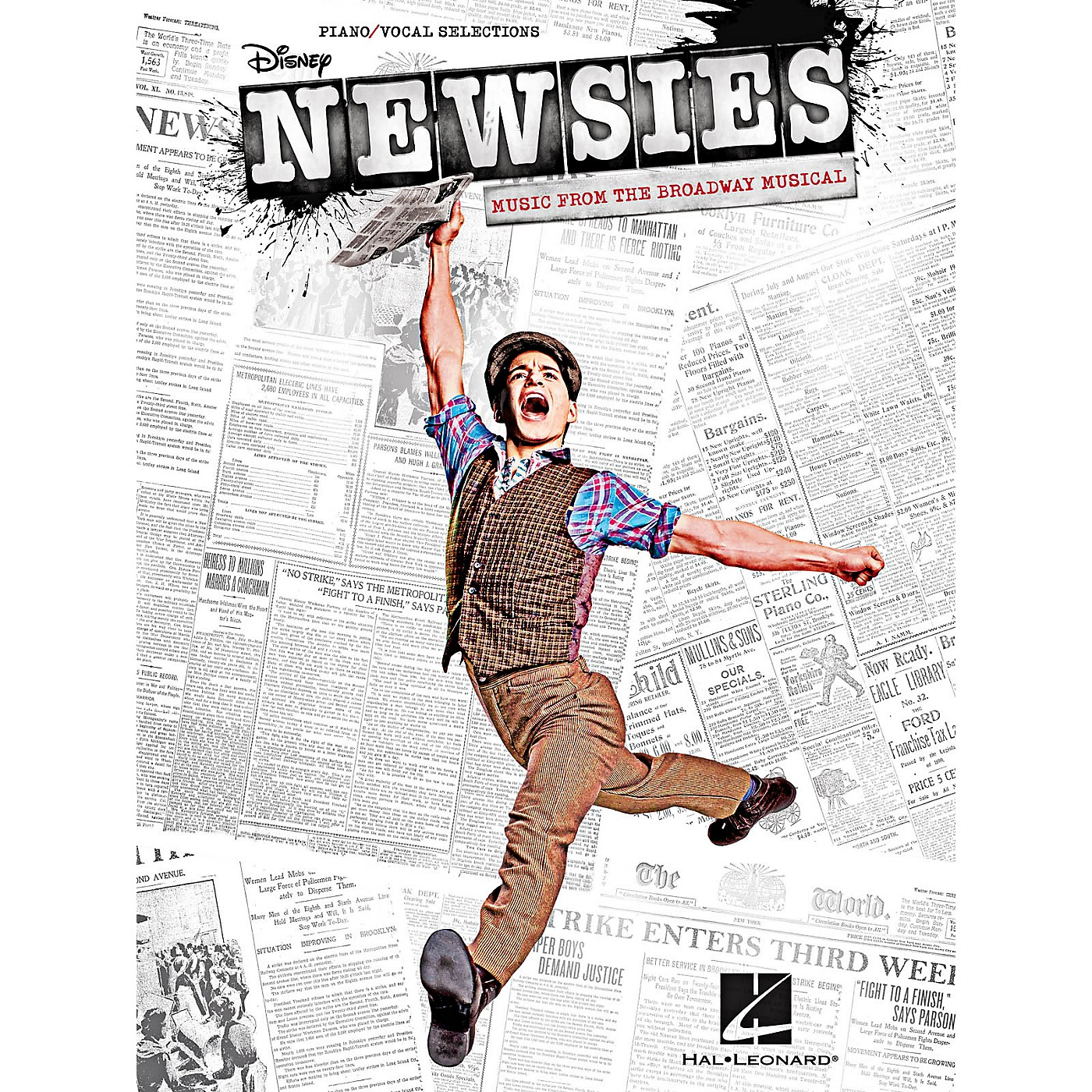 Hal Leonard Newsies - Music From The Broadway Musical for Piano/Vocal/Guitar Songbook thumbnail