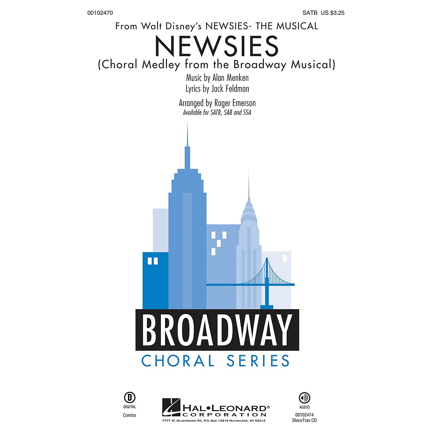 Hal Leonard Newsies (Choral Medley from the Broadway Musical SATB) SATB arranged by Roger Emerson thumbnail