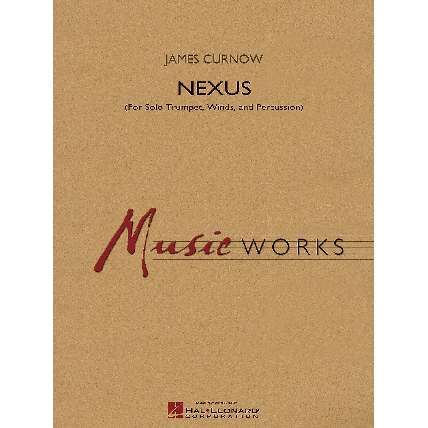 Hal Leonard Nexus (for Solo Trumpet, Winds and Percussion) Concert Band Level 4 Composed by James Curnow thumbnail