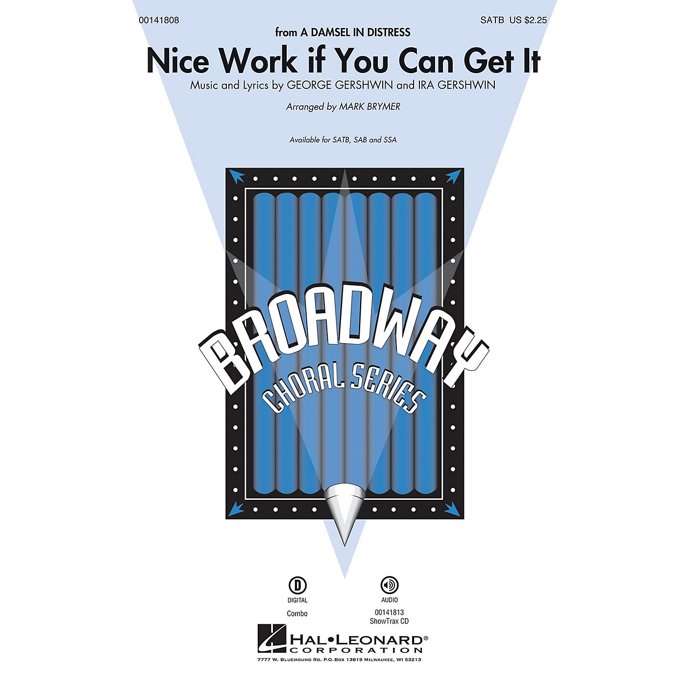 Hal Leonard Nice Work If You Can Get It SATB arranged by Mark Brymer thumbnail