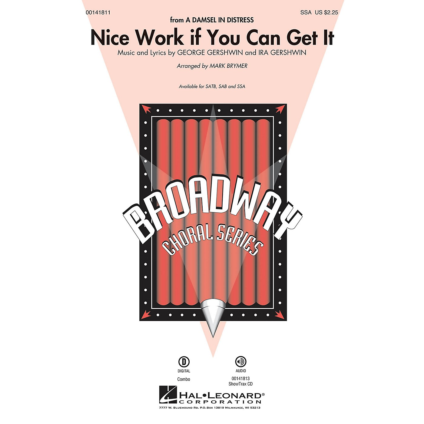 Hal Leonard Nice Work If You Can Get It SSA arranged by Mark Brymer thumbnail