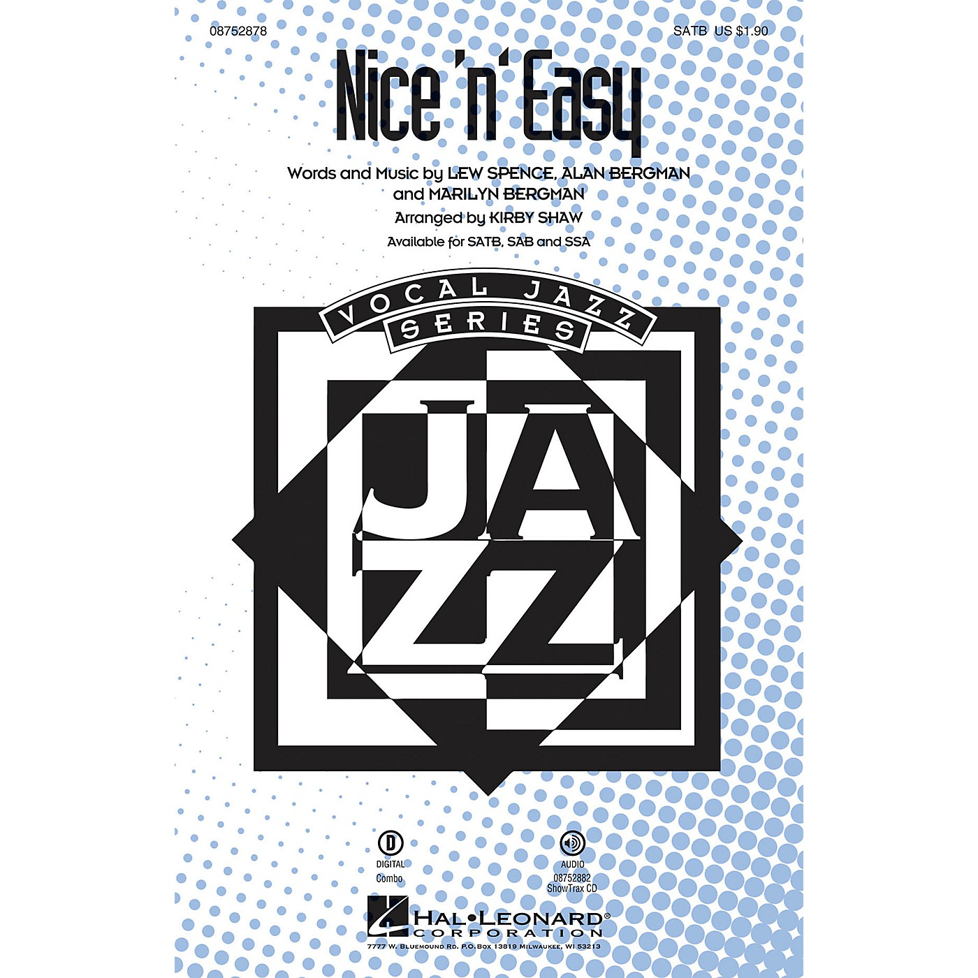 Hal Leonard Nice 'n' Easy SATB by Frank Sinatra arranged by Kirby Shaw thumbnail