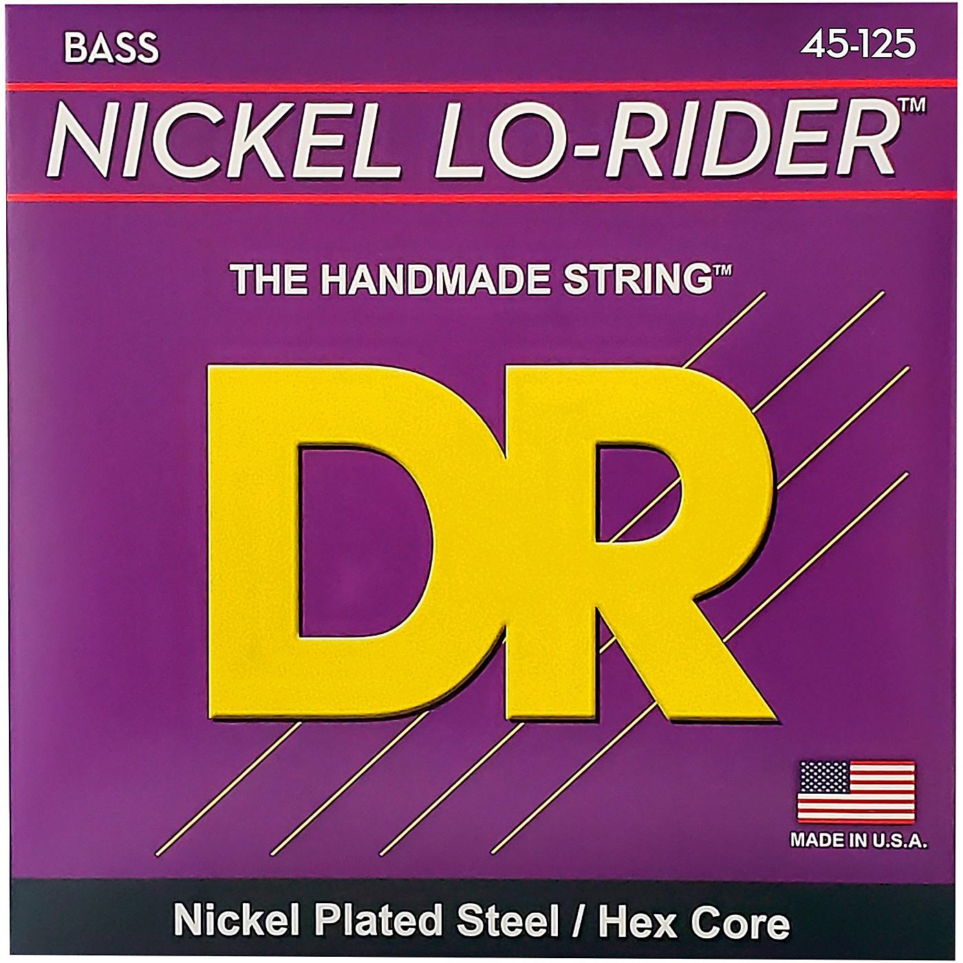DR Strings Nickel Medium Lo-Riders 5-String Bass Strings thumbnail