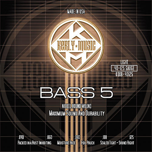 Kerly Music Nickel Plated 5-String Bass Strings Light thumbnail