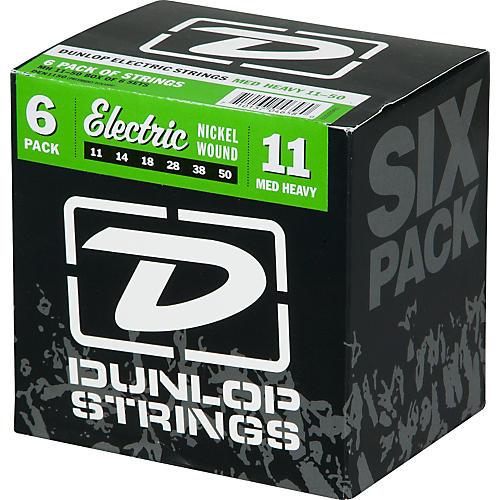 Dunlop Nickel Plated Steel Electric Guitar Strings Medium Heavy 6-Pack-thumbnail