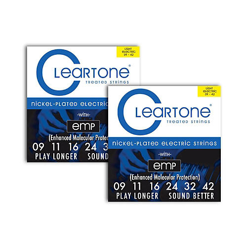 Cleartone Nickel-Plated Super Light Electric Guitar Strings .09 - .42  2-Pack thumbnail
