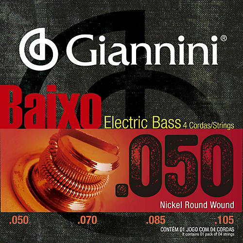 Giannini Nickel Round Wound Medium .50-.105  Electric Bass Strings thumbnail