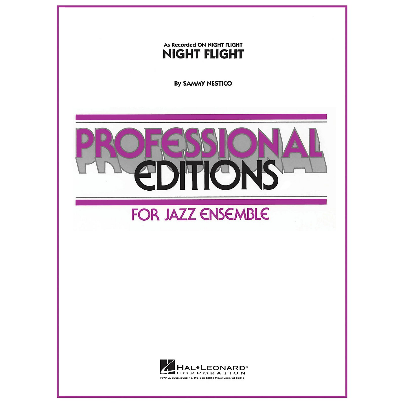 Hal Leonard Night Flight Jazz Band Level 5 Composed by Sammy Nestico thumbnail