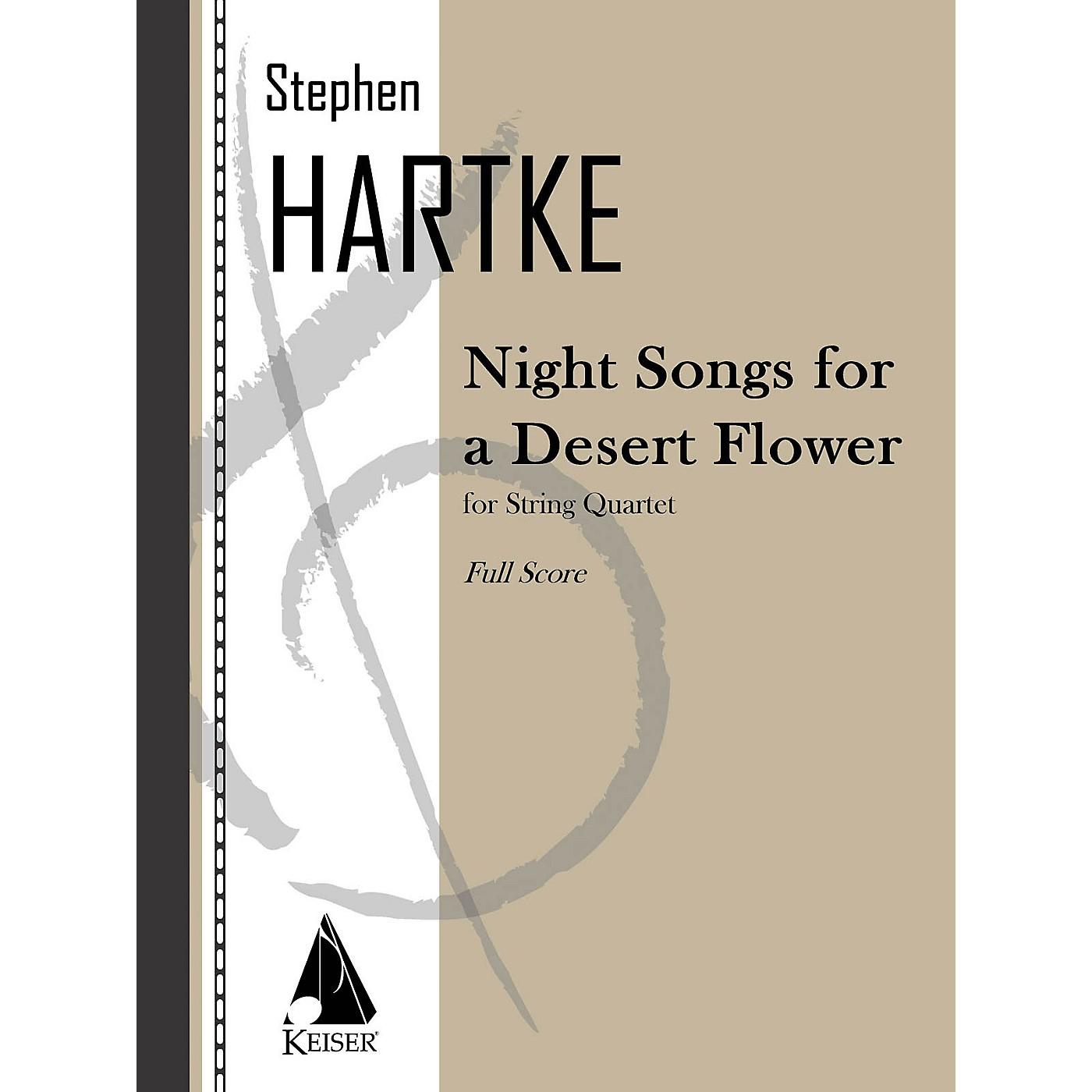 Lauren Keiser Music Publishing Night Songs for a Desert Flower (for String Quartet) LKM Music Series Composed by Stephen Hartke thumbnail