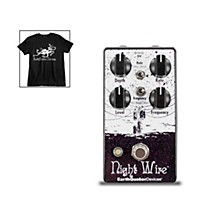 EarthQuaker Devices Night Wire V2 Harmonic Tremolo Effects Pedal and Octoskull T-Shirt Large Black