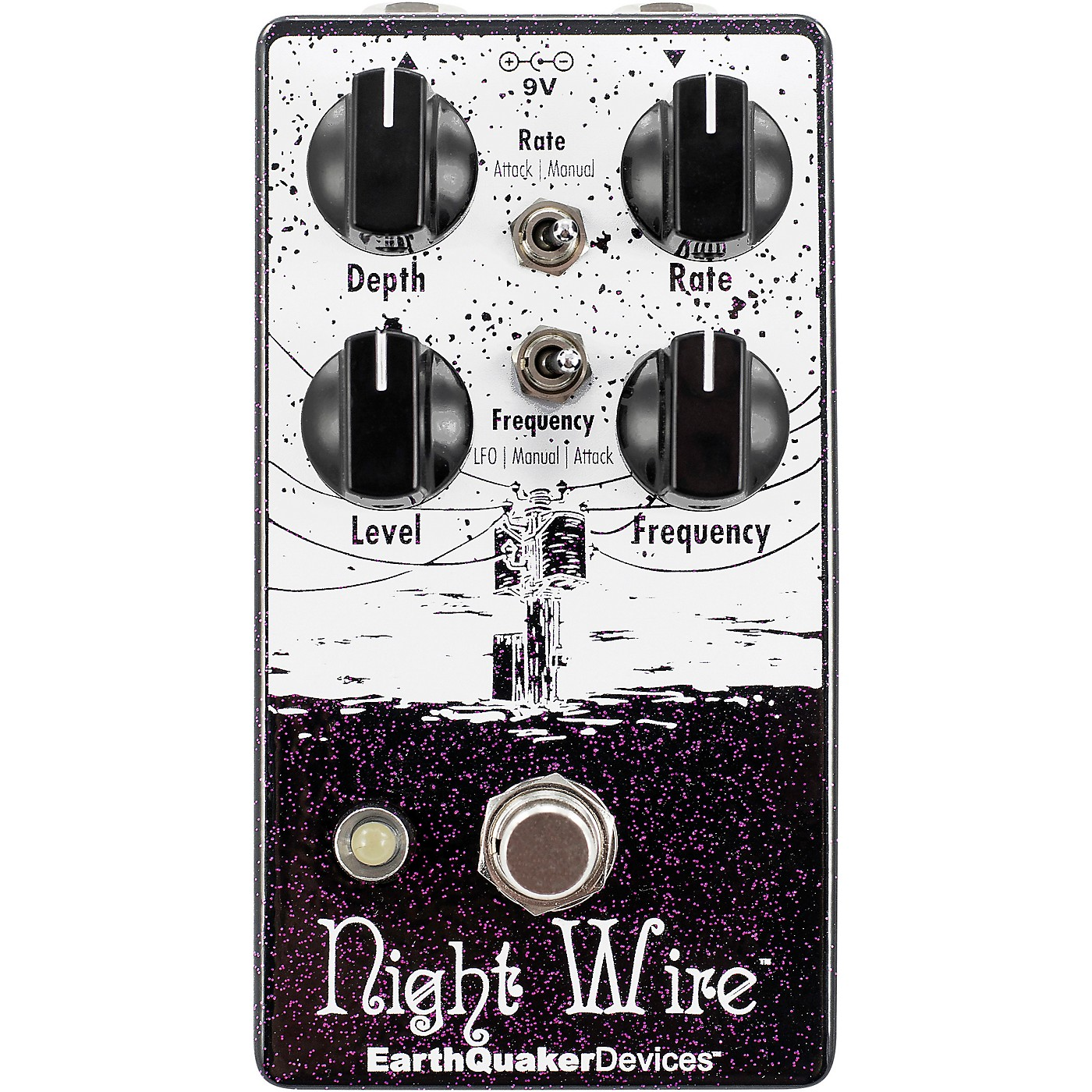 Earthquaker Devices Night Wire V2 Harmonic Tremolo Effects Pedal thumbnail