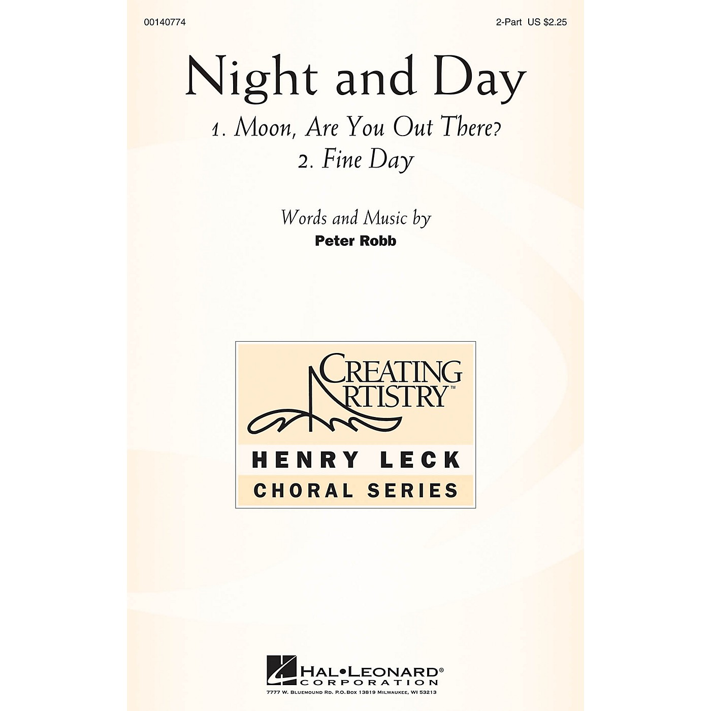 Hal Leonard Night and Day 2PT TREBLE composed by Peter Robb thumbnail