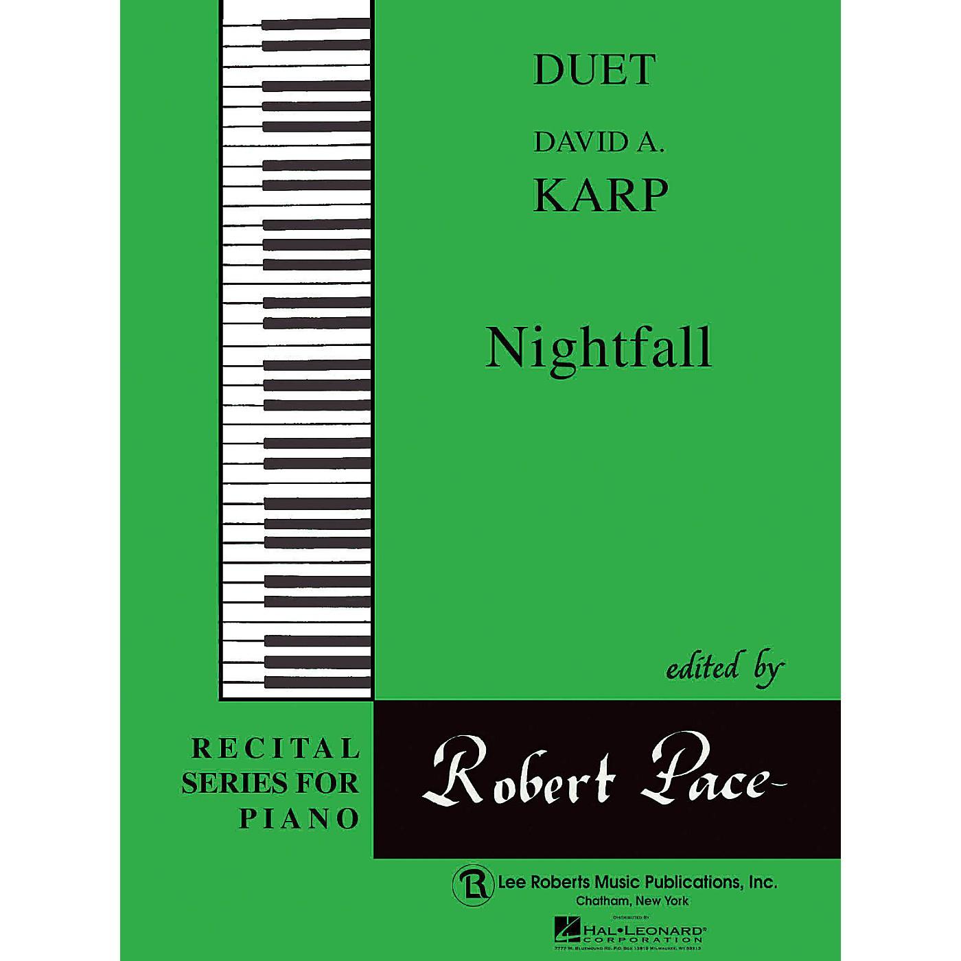 Lee Roberts Nightfall (Duets, Green (Book IV)) Pace Duet Piano Education Series Composed by David A. Karp thumbnail