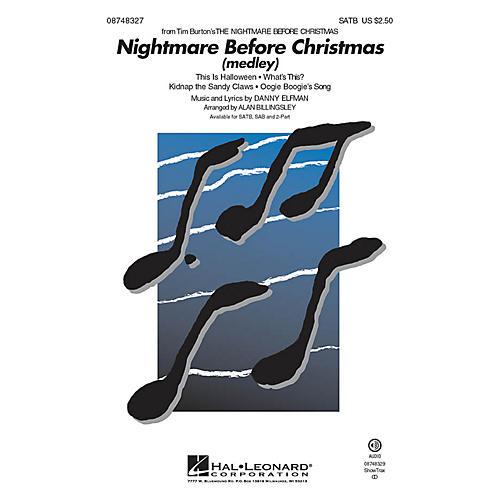 Hal Leonard Nightmare Before Christmas 2-Part Arranged by Alan Billingsley thumbnail