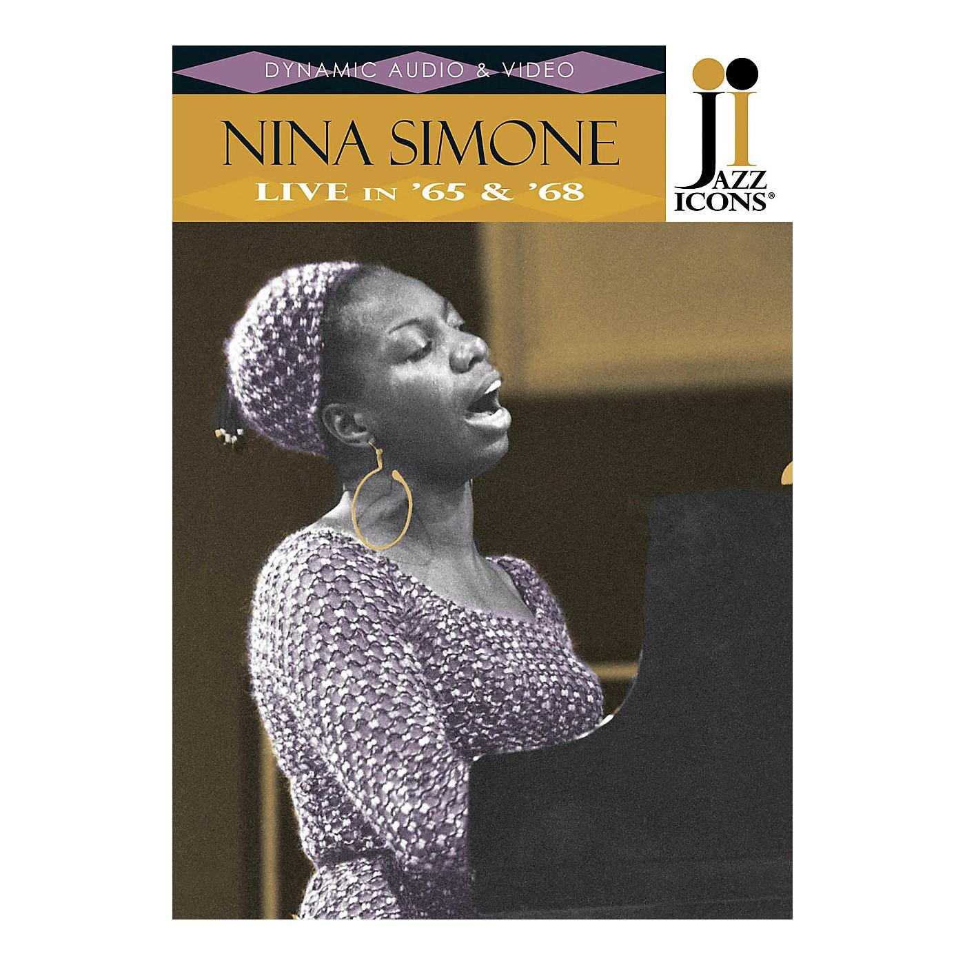 Jazz Icons Nina Simone - Live in '65 & '68 (Jazz Icons DVD) Live/DVD Series DVD Performed by Nina Simone thumbnail