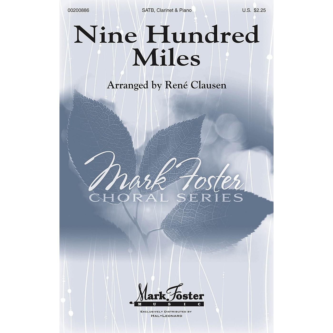 Mark Foster Nine Hundred Miles SATB arranged by Rene Clausen thumbnail