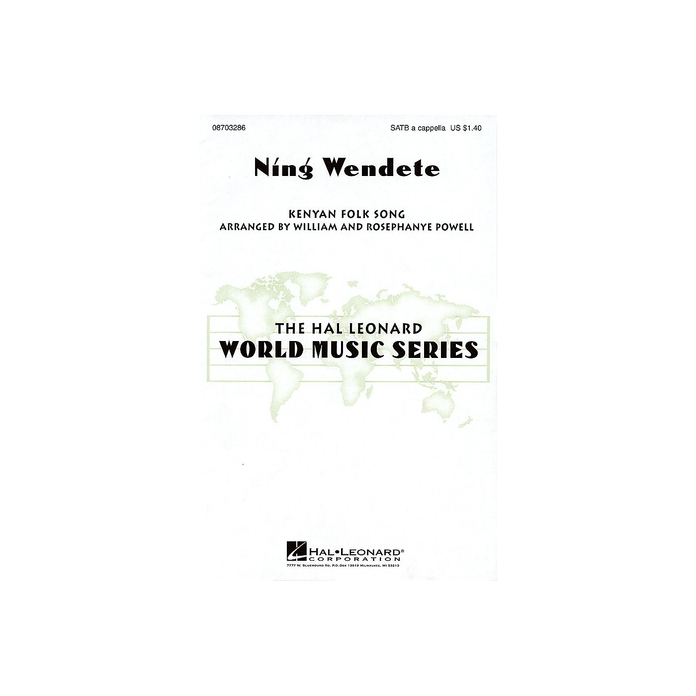 Hal Leonard Ning Wendete SATB DV A Cappella arranged by William Powell thumbnail