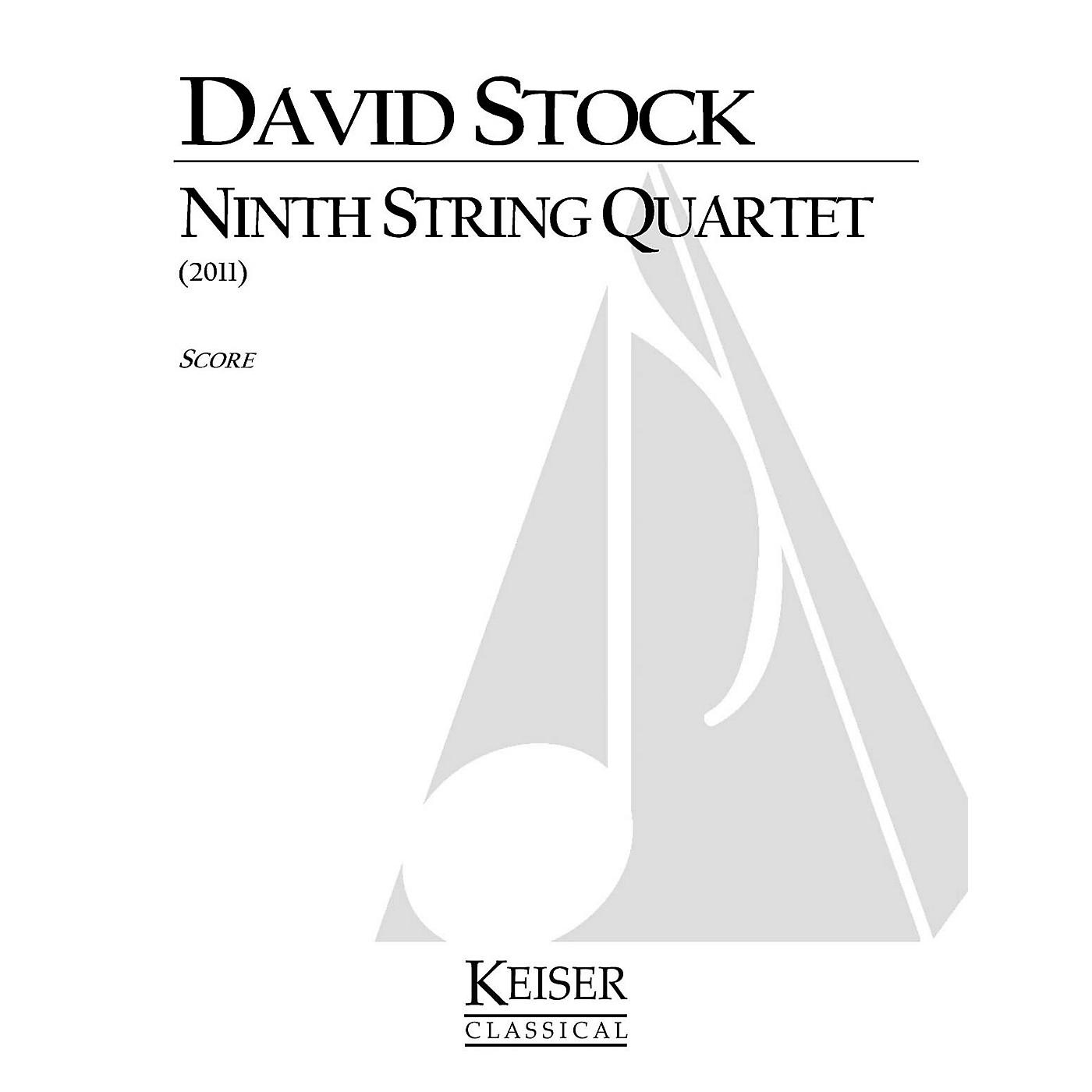 Lauren Keiser Music Publishing Ninth String Quartet LKM Music Series Composed by David Stock thumbnail