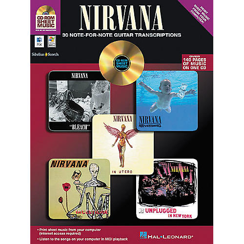 Isong Nirvana - 30 Note-for-Note Guitar Transcriptions (CD-ROM)-thumbnail