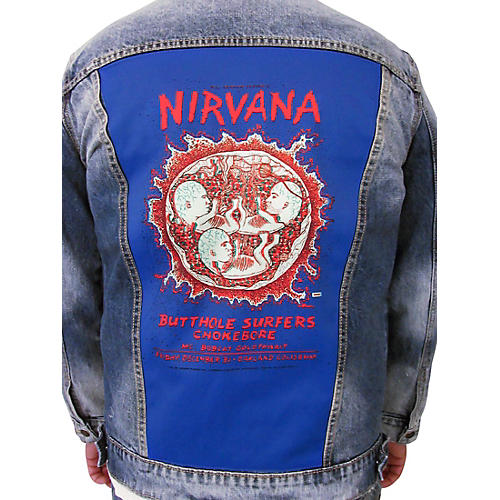 Dragonfly Clothing Nirvana - Oakland Coliseum Embryo - Womens Denim Jacket thumbnail