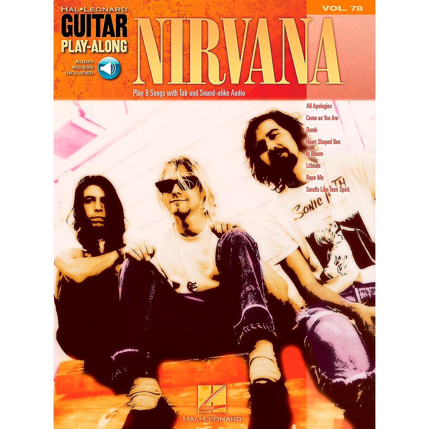 Hal Leonard Nirvana Guitar Play-Along Series Volume 78 (Book/CD) thumbnail