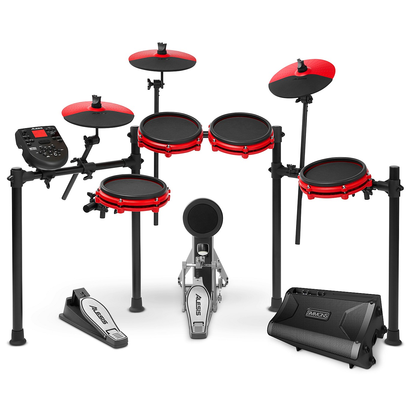 Alesis Nitro Mesh Special Edition Electronic Drum Kit With Mesh Pads and Simmons DA2108 Drum Set Monitor thumbnail