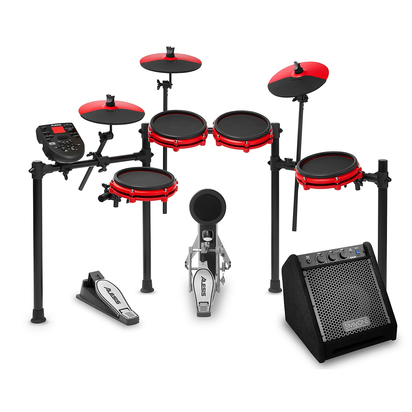 Alesis Nitro Mesh Special Edition Electronic Drum Set with Simmons DA25 Amp thumbnail