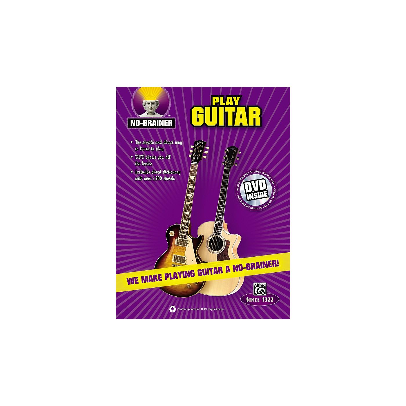 Alfred No-Brainer Play Guitar Book & CD thumbnail