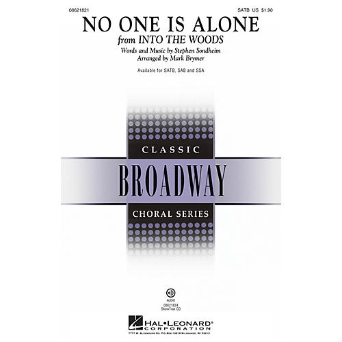 Hal Leonard No One Is Alone (from Into the Woods ) SAB Arranged by Mark Brymer thumbnail