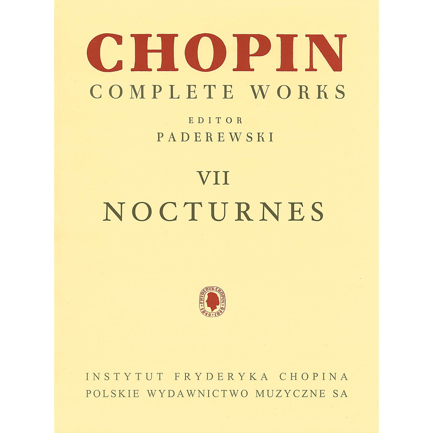 PWM Nocturnes (Chopin Complete Works Vol. VII) PWM Series Softcover thumbnail
