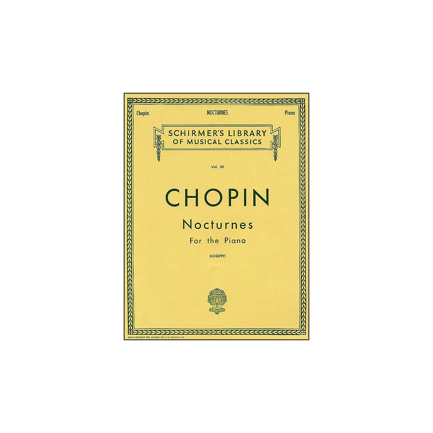 G. Schirmer Nocturnes for Piano Vol 30 By Chopin thumbnail