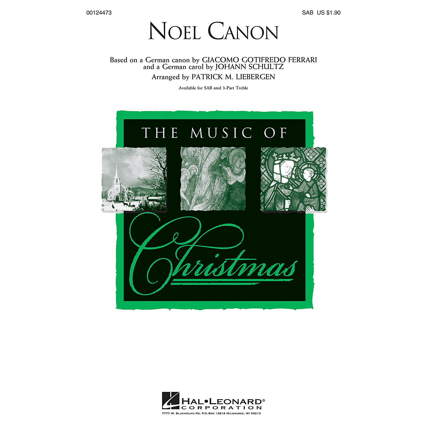 Hal Leonard Noel Canon SAB arranged by Patrick Liebergen thumbnail