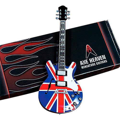 Axe Heaven Noel Gallagher Union Jack Supernova Miniature Guitar Replica Collectible thumbnail
