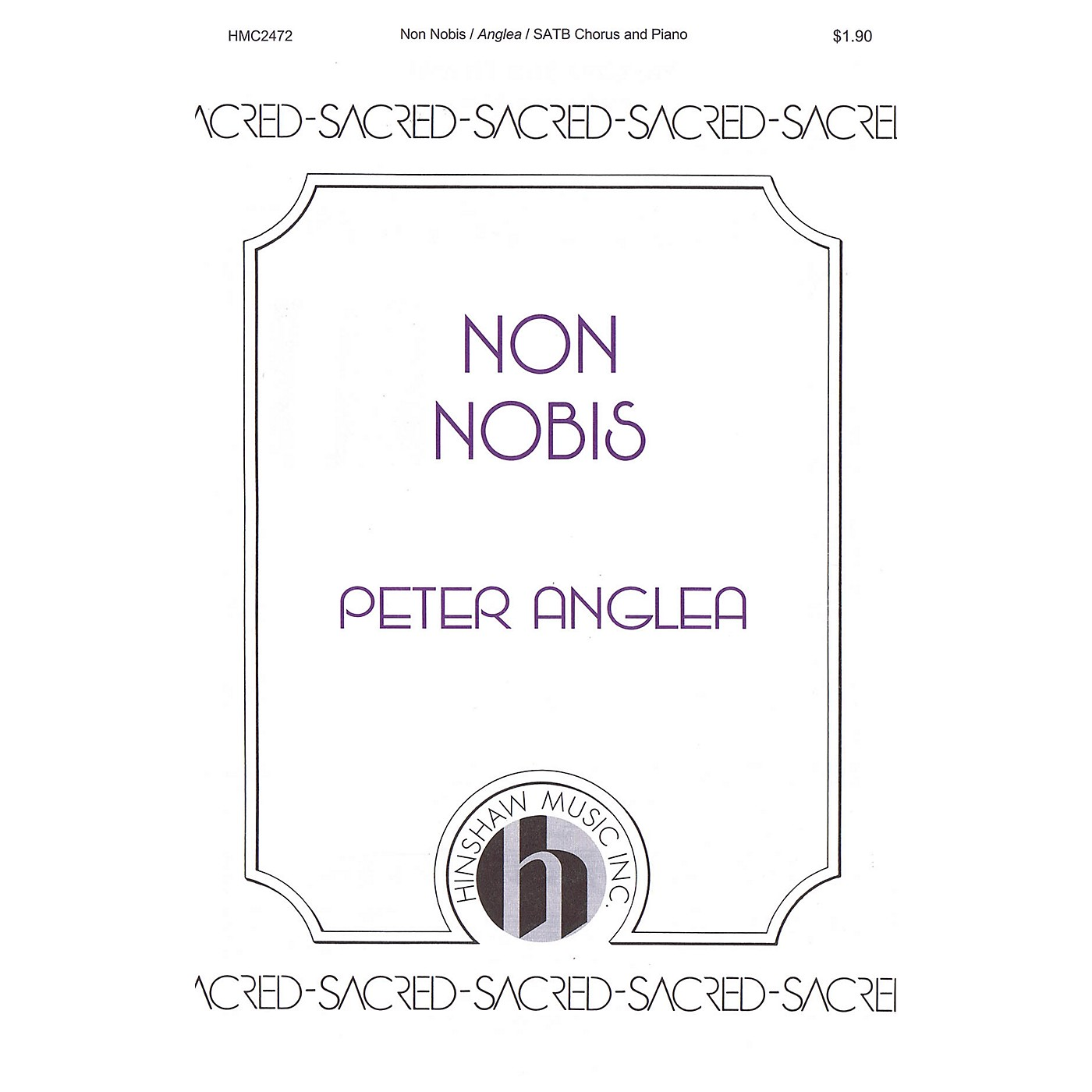 Hinshaw Music Non Nobis SATB composed by Peter Anglea thumbnail