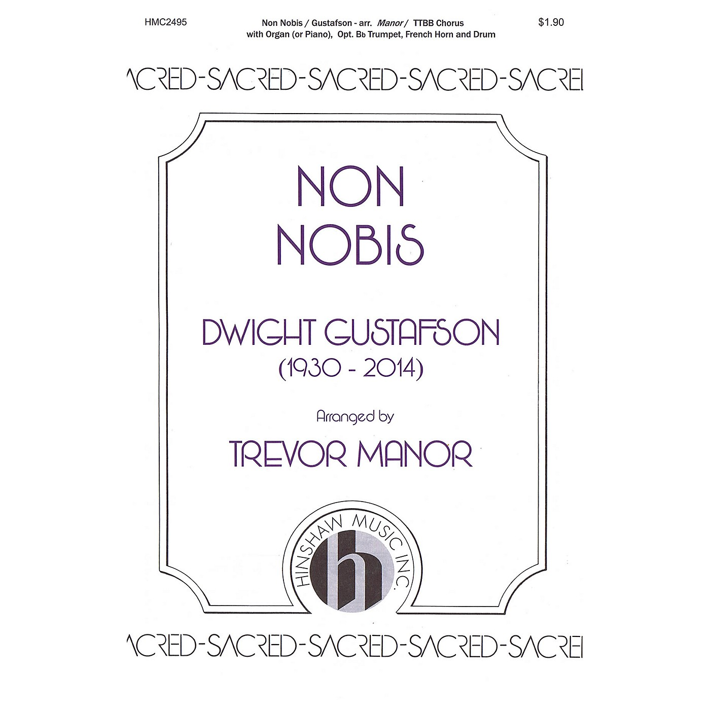 Hinshaw Music Non Nobis TTBB arranged by Trevor Manor thumbnail