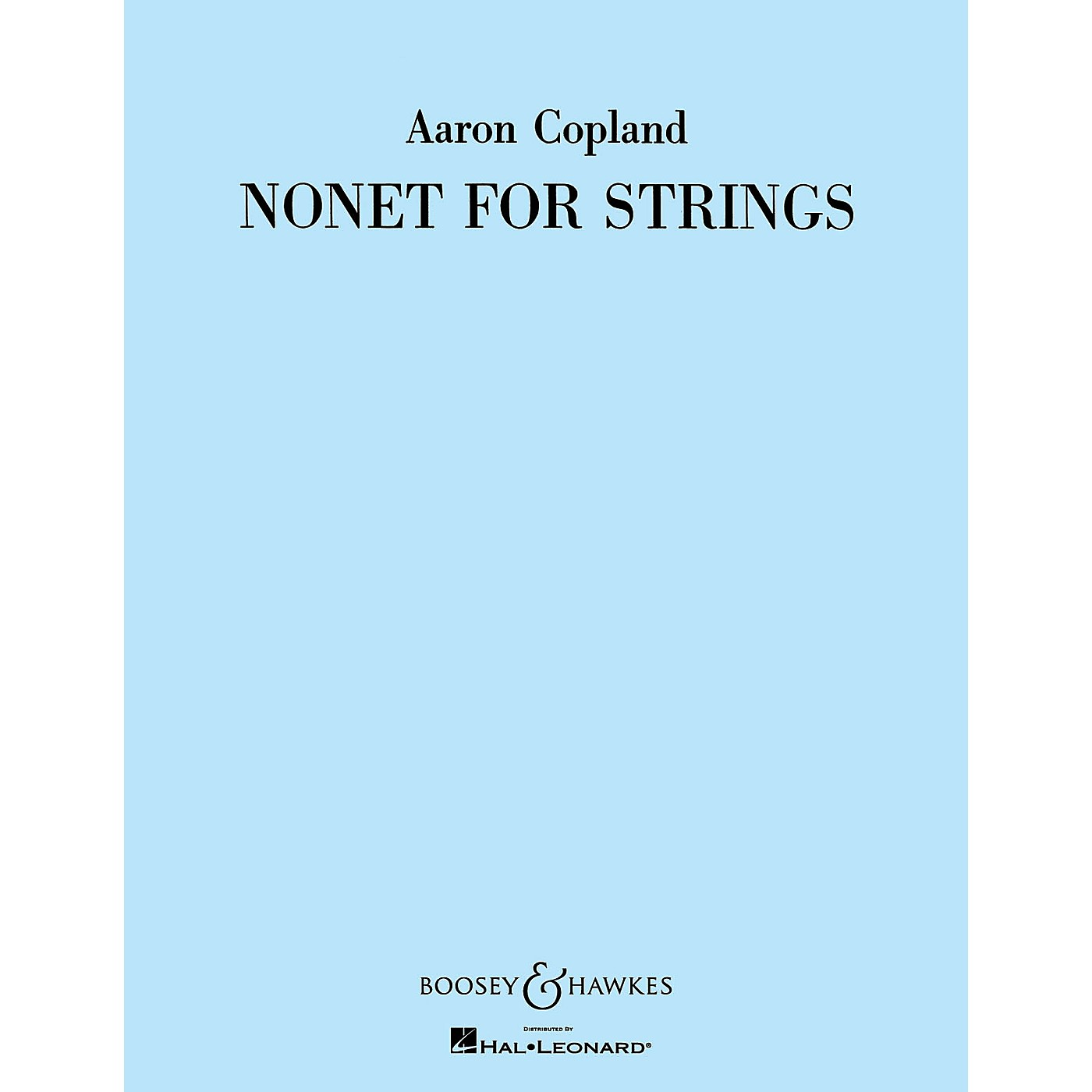 Boosey and Hawkes Nonet for Strings (for String Orchestra) Boosey & Hawkes Orchestra Series Composed by Aaron Copland thumbnail