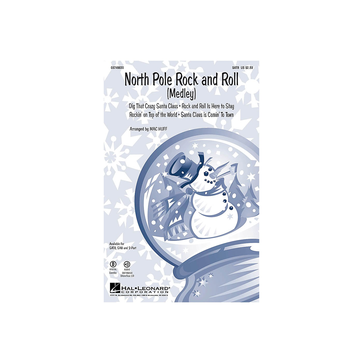 Hal Leonard North Pole Rock and Roll (Medley) SAB Arranged by Mac Huff thumbnail