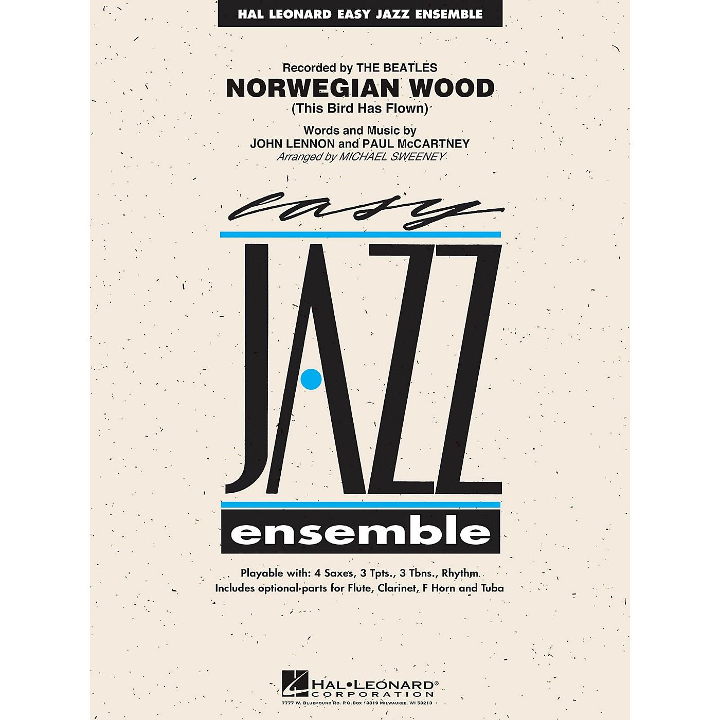 Hal Leonard Norwegian Wood (This Bird Has Flown) Jazz Band Level 2 Arranged by Michael Sweeney thumbnail
