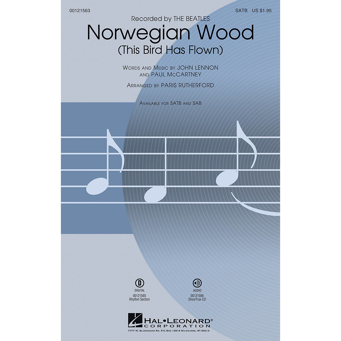 Hal Leonard Norwegian Wood (This Bird Has Flown) SATB by Beatles arranged by Paris Rutherford thumbnail