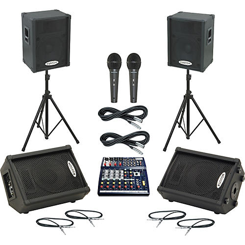 Soundcraft Notepad 124 / KPC15P Mains & Monitors Package thumbnail