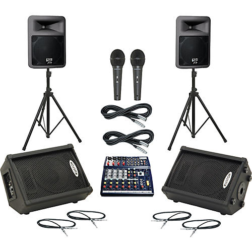Soundcraft Notepad 124 / PR12D Mains & Monitors Package thumbnail