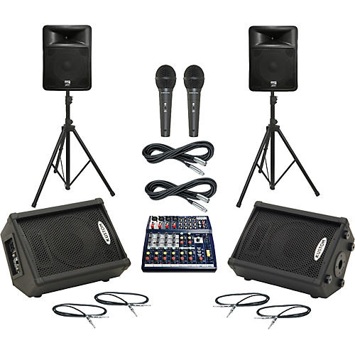 Soundcraft Notepad 124 / PR15D Mains & Monitors Package thumbnail