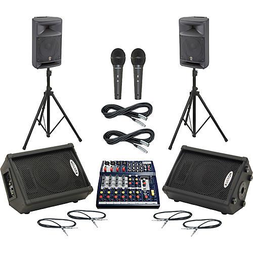 Soundcraft Notepad 124FX / MSR250 Mains & Monitors Package-thumbnail