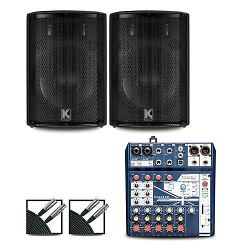 Soundcraft Notepad8FX Mixer and Kustom HiPAC Speakers thumbnail