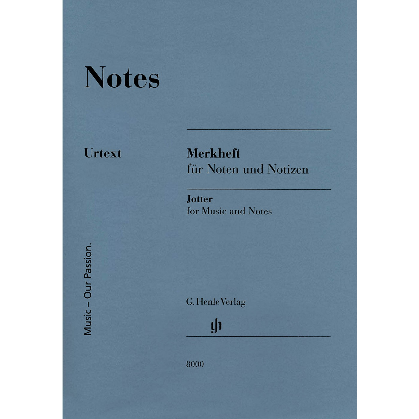 G. Henle Verlag Notes (A Miniature Booklet of 8-Stave Manuscript Paper) Henle Edition Series Softcover thumbnail