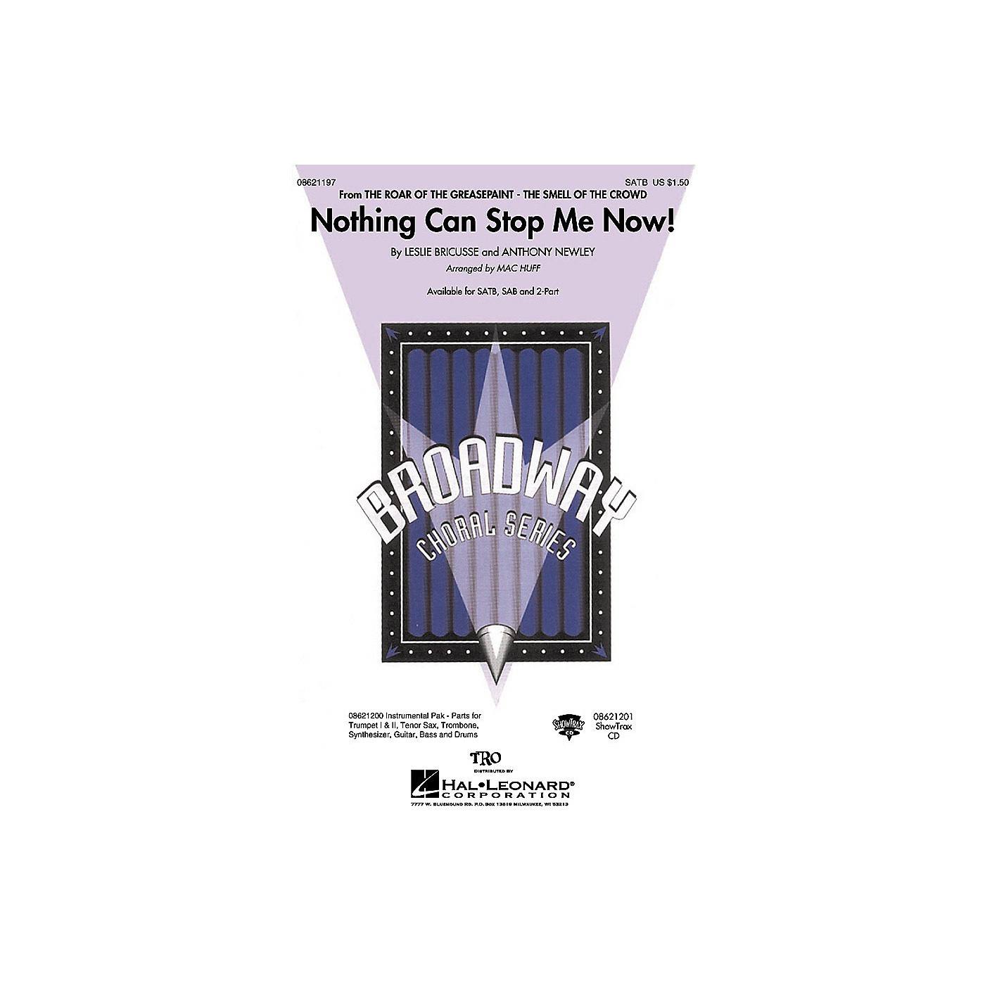Hal Leonard Nothing Can Stop Me Now! (from The Roar of the Greasepaint) SATB arranged by Mac Huff thumbnail