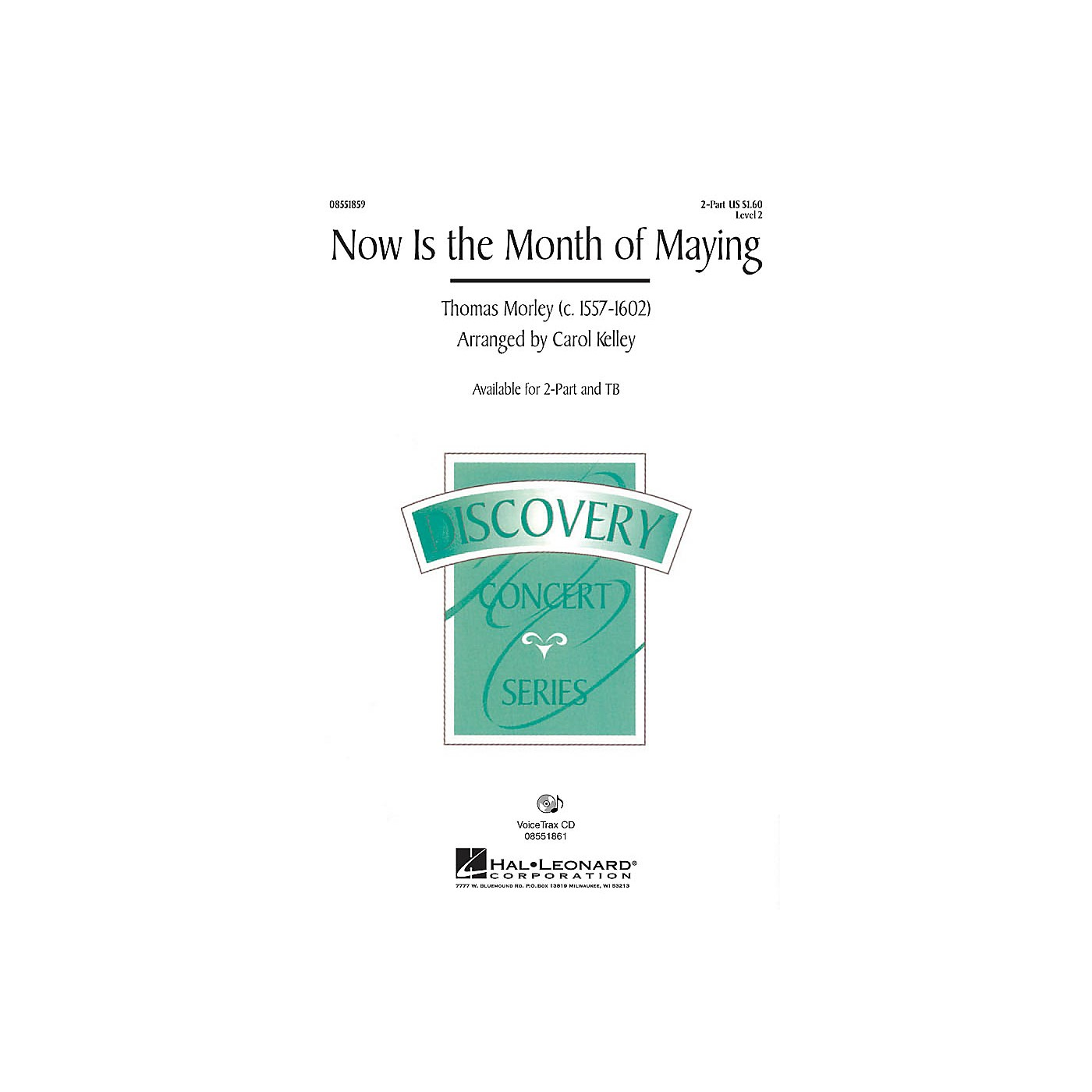 Hal Leonard Now Is the Month of Maying 2-Part arranged by Carol Kelley thumbnail