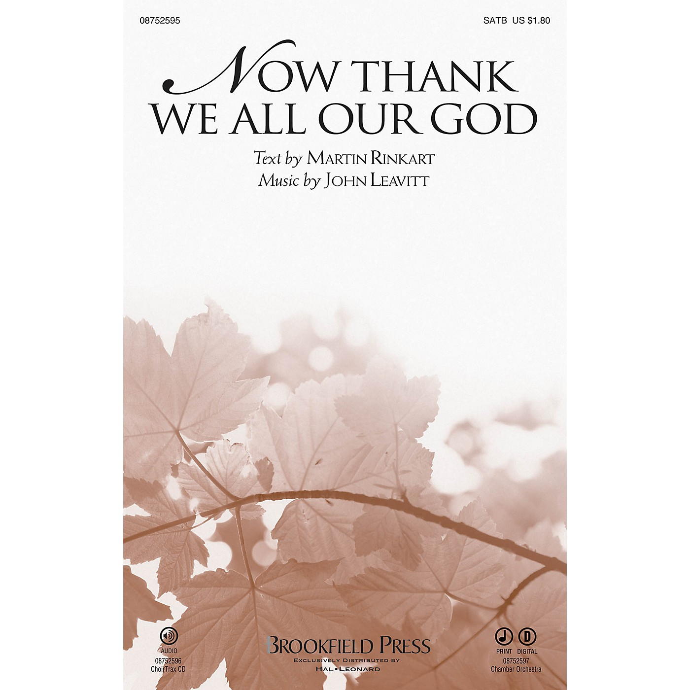 Brookfield Now Thank We All Our God SATB composed by John Leavitt thumbnail