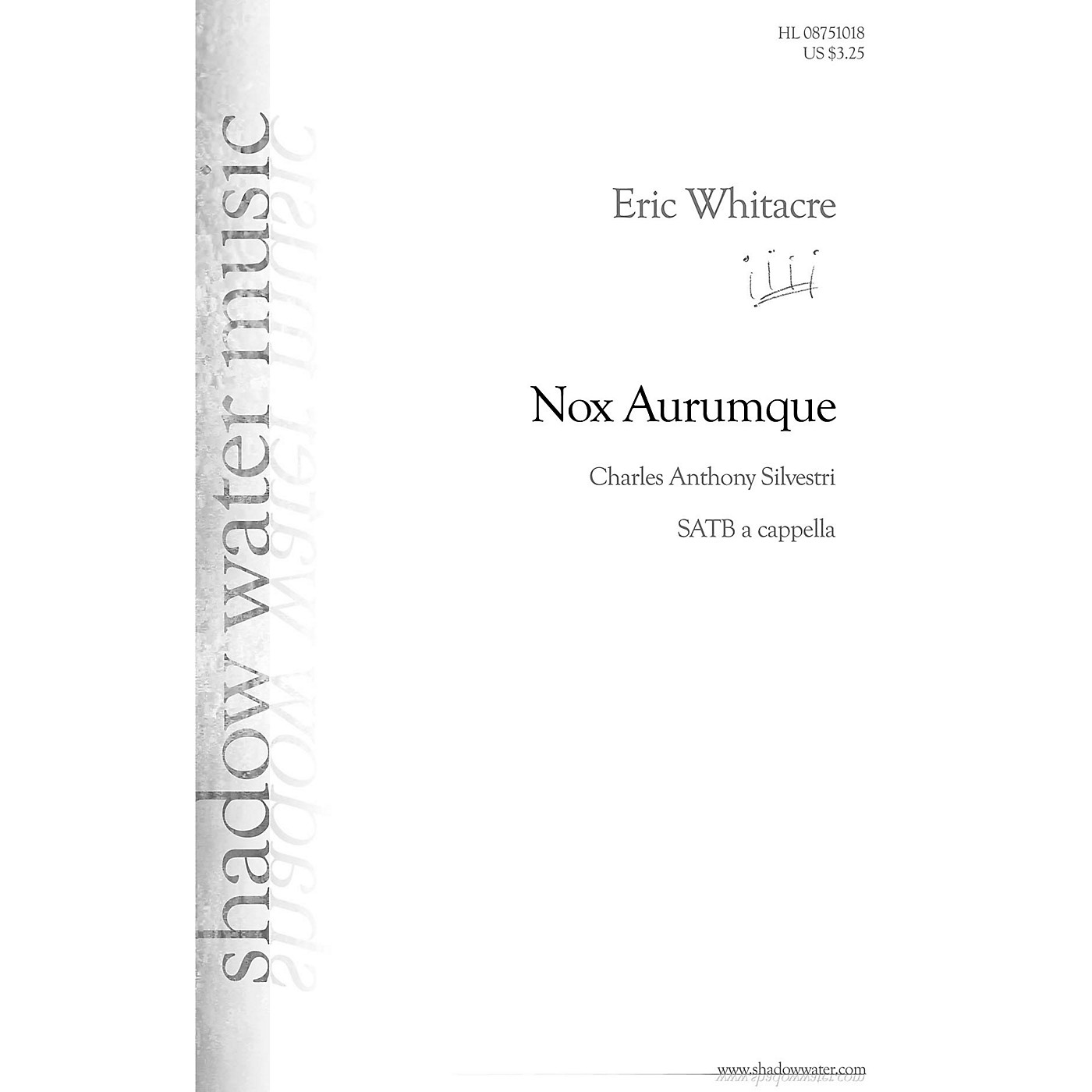 Shadow Water Music Nox Aurumque SATB a cappella composed by Eric Whitacre thumbnail