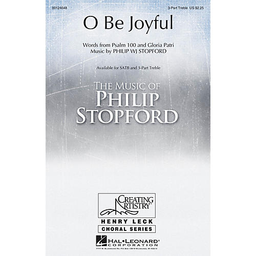 Hal Leonard O Be Joyful 3 Part Treble composed by Philip Stopford thumbnail